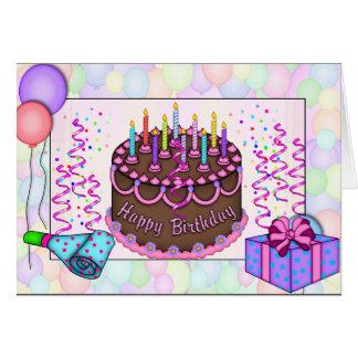 Classic Birthday Cake Invitation Greeting Card
