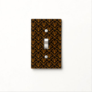 Classic Black And Gold Damask Light Switch Cover