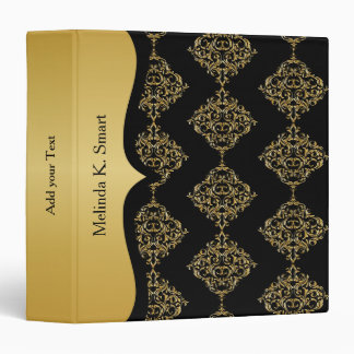 Classic Black and Gold Design 3 Ring Binders