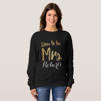classic black and gold soon to be mrs tee