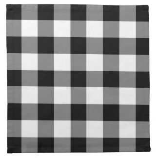 Classic Black And White Checked Gingham Pattern Napkin
