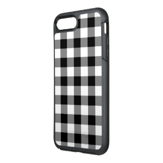 Classic Black and White Checked Plaid OtterBox Symmetry iPhone 8 Plus/7 Plus Case