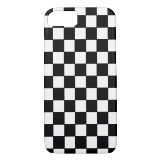 Classic Black and White Checkered - iPhone 7 Case