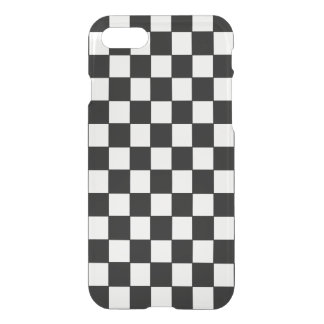 Classic Black and White Checkered Pattern iPhone 7 Case