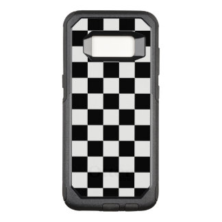 Classic Black and White Chequered Pattern OtterBox Commuter Samsung Galaxy S8 Case