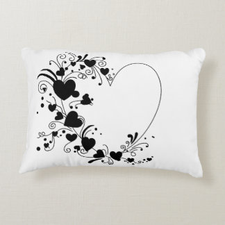 Classic Black and White Decorative Pillow