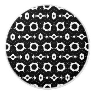 Classic black and white design ceramic knob