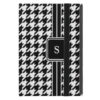 Classic Black and White Houndstooth Monogrammed iPad Mini Cover