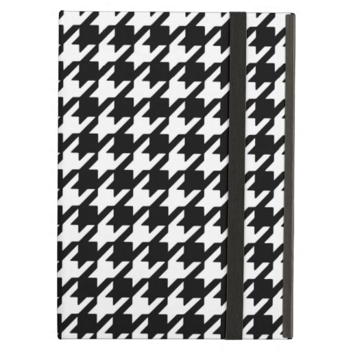 Classic Black and White Houndstooth Pattern Cover For iPad Air