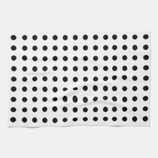 Classic black and white polka dots seamless kitchen towel