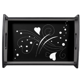 Classic Black and White Serving Tray