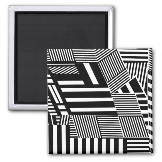 Classic Black and White Stripe Magnet