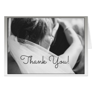 Classic Black and White Thank You Wedding Card