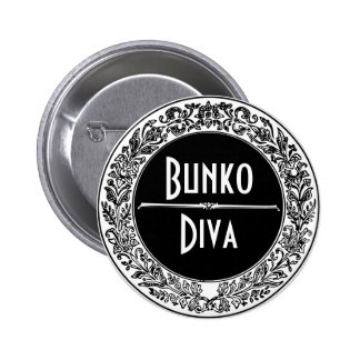 Classic Black And White Vintage Bunco 2 Inch Round Button