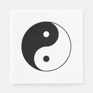 Classic Black and White Yin and Yang Paper Napkins