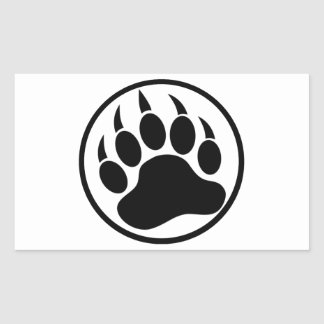 Classic Black bear claw inside a black ring Sticker