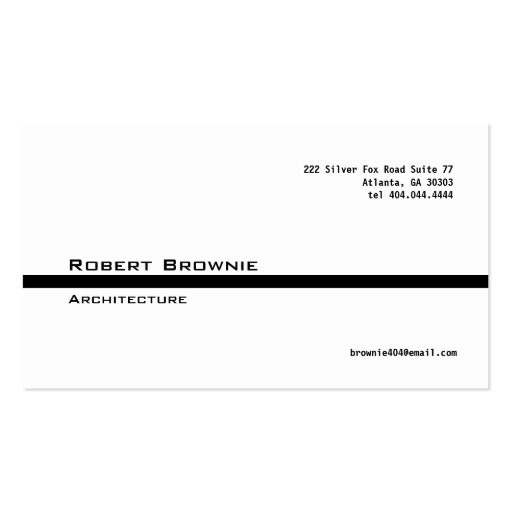 Classic Black Line Business Card