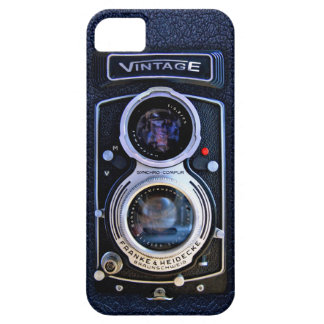 Classic Black Silver Double lens camera case