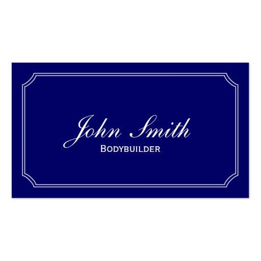 Classic Blue Bodybuilding Business Card