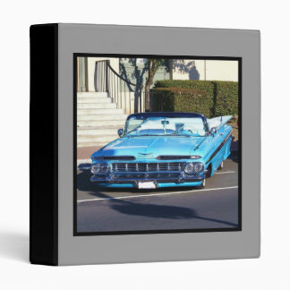 Classic Blue Car 3 Ring Binder