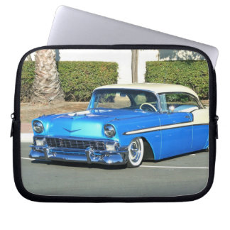 Classic blue car laptop sleeve