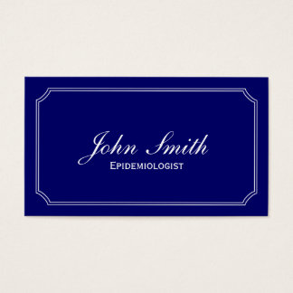 Classic Blue Epidemiologist Business Card