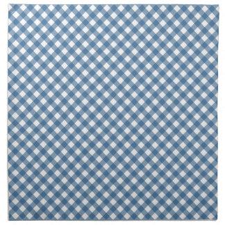 Classic Blue Gingham Pattern Cloth Napkin