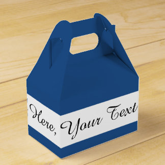 Classic Blue High End Solid Color Favor Box