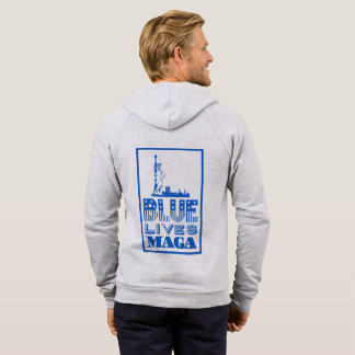 Classic Blue Lives MAGA Men's Hoodie