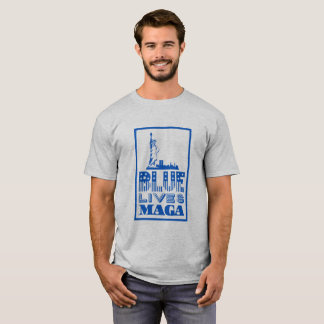 Classic Blue Lives MAGA T-Shirt
