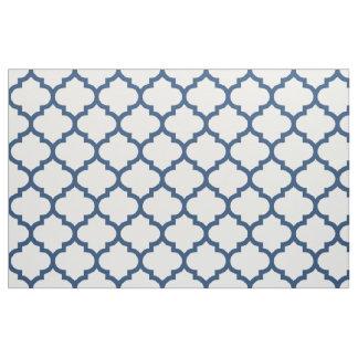 Classic Blue Moroccan Trellis Pattern Fabric