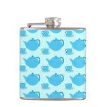 Classic Blue Teapot Flasks