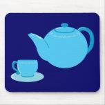 Classic Blue Teapot Mouse Pad