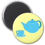Classic Blue Teapot Refrigerator Magnets