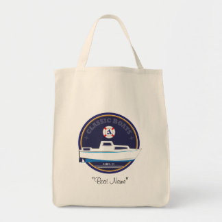 Classic Boats Albin 25 grocery tote Grocery Tote Bag