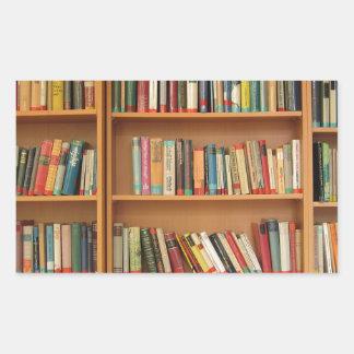 Classic book shelf pattern, bookcase,books,old sticker