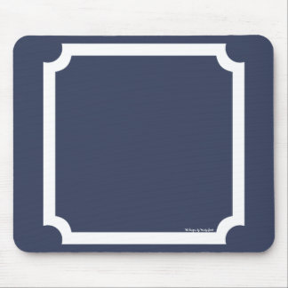 Classic Border Mousepad in Nautical Navy/White