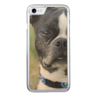 Classic Boston Terrier Dog Carved iPhone 7 Case