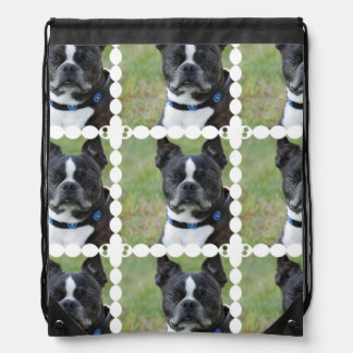 Classic Boston Terrier Dog Drawstring Backpack