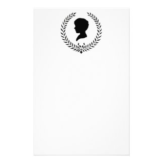Classic Boy Silhouette Stationery