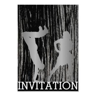Classic Break Dance Dico Hip Hop Silver Gray Wood Card