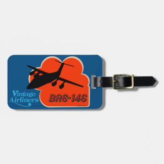 Classic British Airliner Luggage Tag