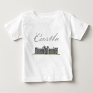 Classic British Castle with Castle Text Baby T-Shirt