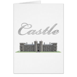 Classic British Castle with Castle Text Card