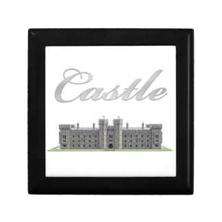 Classic British Castle with Castle Text Keepsake Box