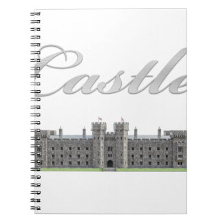 Classic British Castle with Castle Text Notebook