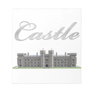 Classic British Castle with Castle Text Notepad