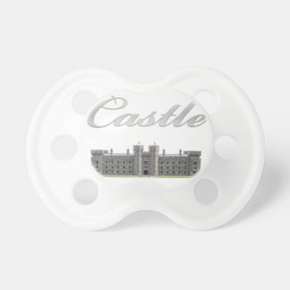 Classic British Castle with Castle Text Pacifier