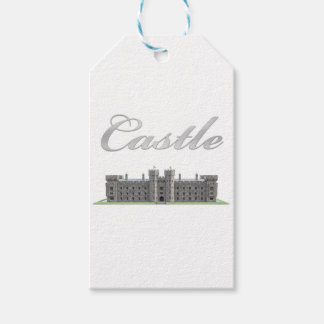 Classic British Castle with Castle Text Pack Of Gift Tags