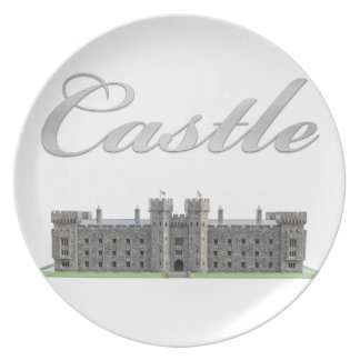 Classic British Castle with Castle Text Plate